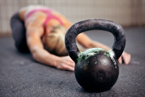 Kettle-bell and trainer