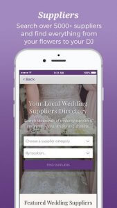 Hitched Wedding App - Suppliers