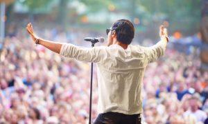 Singer at a concert